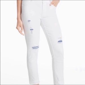 White House Black Market White Straight Jeans